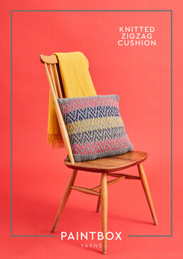 Knitted Zigzag Cushion in Paintbox Yarns Simply Chunky - Downloadable PDF