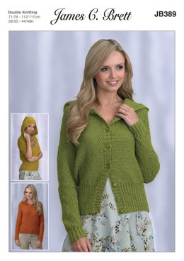 Hooded Sweaters and Cardigan in James C. Brett Twinkle DK - JB389 - Leaflet