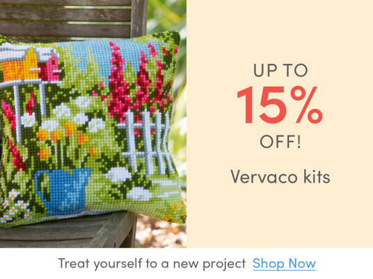 Up to 15 percent off Vervaco kits