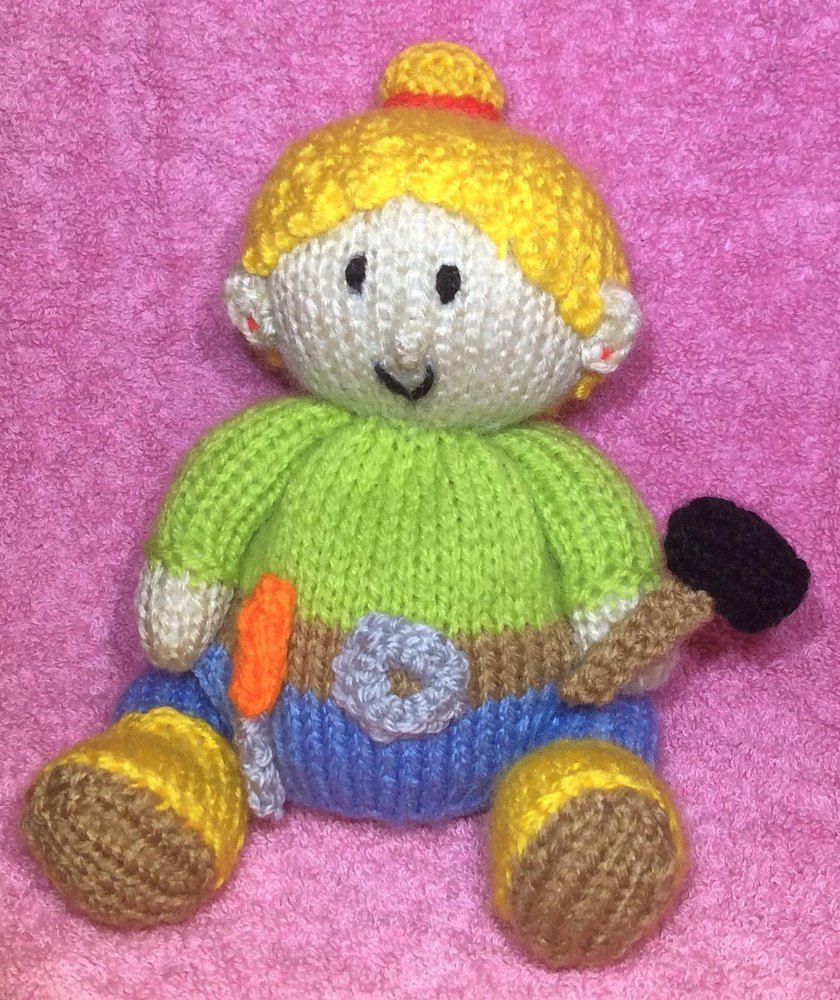Wendy Choc Orange Cover / Bob the Builder Toy Knitting pattern by ...