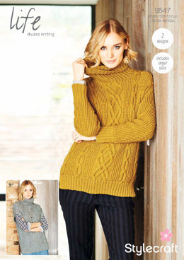 Sweaters in Stylecraft Life DK - 9547 - Downloadable PDF