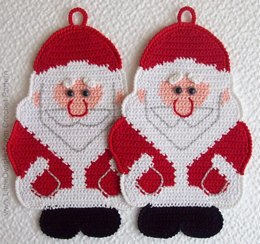 039 Santa Claus, Father Christmas, Father Frost Decor or Potholder Ravelry