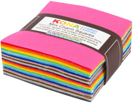 Robert Kaufman Kona Cotton Solids 2.5in Charm Pack - MCH-120-84