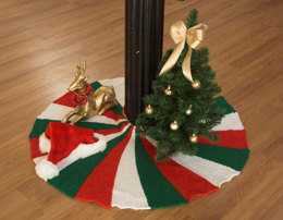 Tree Skirt in Plymouth Yarn Holiday Lights - 2518