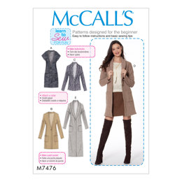 McCall's Misses' Drop-Shoulder Vest and Cardigans M7476 - Sewing Pattern