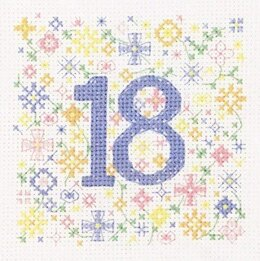 Heritage 18th Birthday Card Cross Stitch Kit