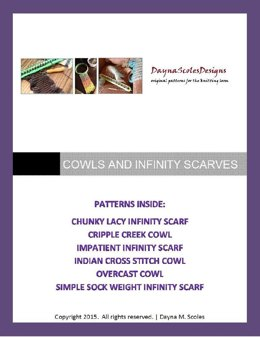 Cowls and Infinity Scarves eBook - 6 loom knit patterns