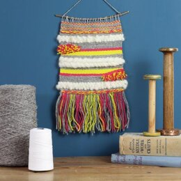 Hawthorn Handmade Weaving Supply Pack - Lime and Pink