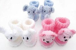 Animal Baby Booties a