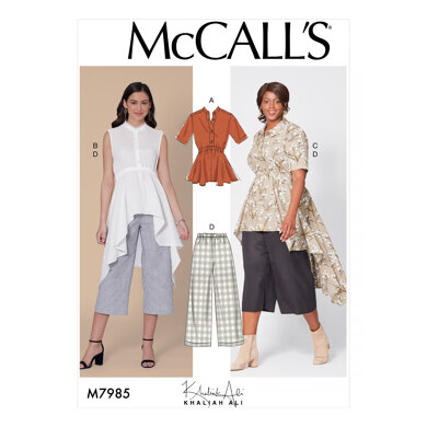McCall's Misses' and Women's Top, Tunics, and Pants M7985 - Sewing Pattern