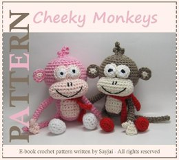 Cheeky Monkeys Amigurumi Crochet Pattern