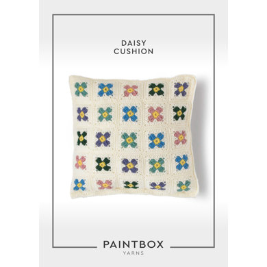 """Daisy Cushion"" - Free Cushion Crochet Pattern For Home in Paintbox Yarns Simply DK"