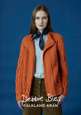 Elin Jacket in Debbie Bliss Falkland Aran - DB198 - Downloadable PDF