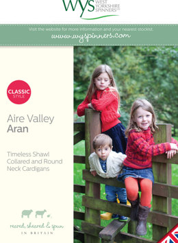 Timeless Set Kids Cardigans Collection in West Yorkshire Spinners Aire Valley Aran - Downloadable PDF