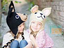 Pixie and Maxi the Chihuahuas, Crochet Hat Pattern in PDF
