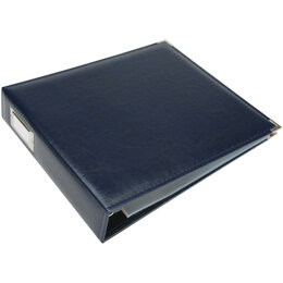 "We R Memory Keepers We R Classic Leather D-Ring Album 12""X12"" - Navy"