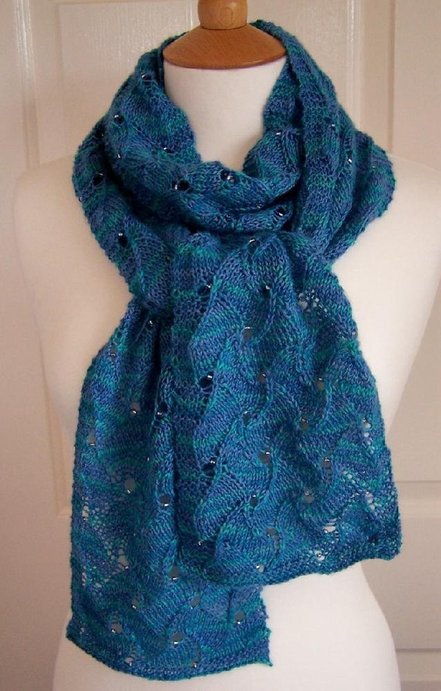 Water Ripple Scarf Knitting pattern by Made with Loops Knitting Patterns ...