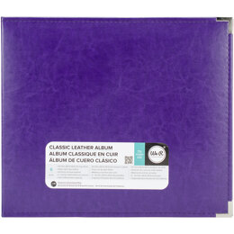 """We R Memory Keepers We R Classic Leather D-Ring Album 12""""X12"""" - Grape Soda"""
