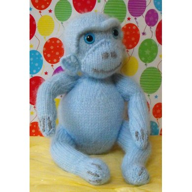 NURSERY MONKEY TOY KNITTING PATTERN - MADMONKEYKNITS