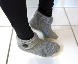 Women's Buttoned Up Slippers