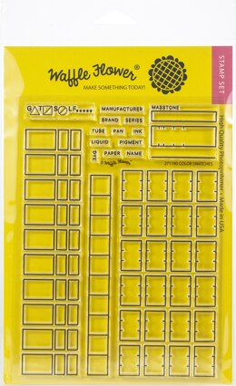"Waffle Flower Crafts Clear Stamp 5""X7"" - Color Swatches"