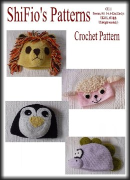 Crochet Pattern baby child animal hats UK & UAS Terms #211