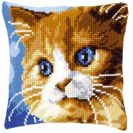 Vervaco Cross Stitch Kit: Cushion: Brown Cat - 40 x 40cm