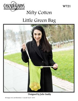 Little Green Bag in Cascade Yarns Nifty Cotton - W721 - Downloadable PDF