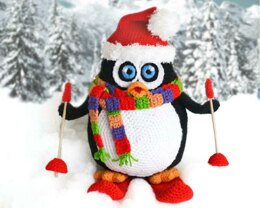 Crochet Penguin Amigurumi. Large Penguin Toy. Christmas Decor