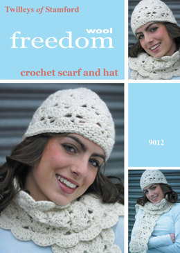 Crochet Hat and Scarf in Twilleys Freedom Wool - 9012