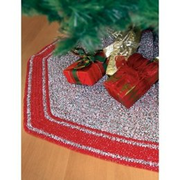 Crochet Tree Skirt in Bernat Handicrafter Holidays Twists and Sparkle - Downloadable PDF