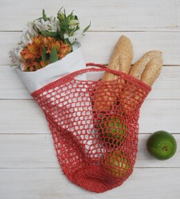 Crochet Pocket Market Bag