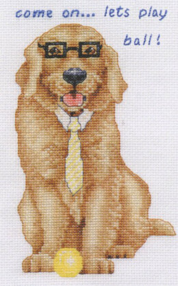DMC Golden Retriever Dog Cross Stitch Kit