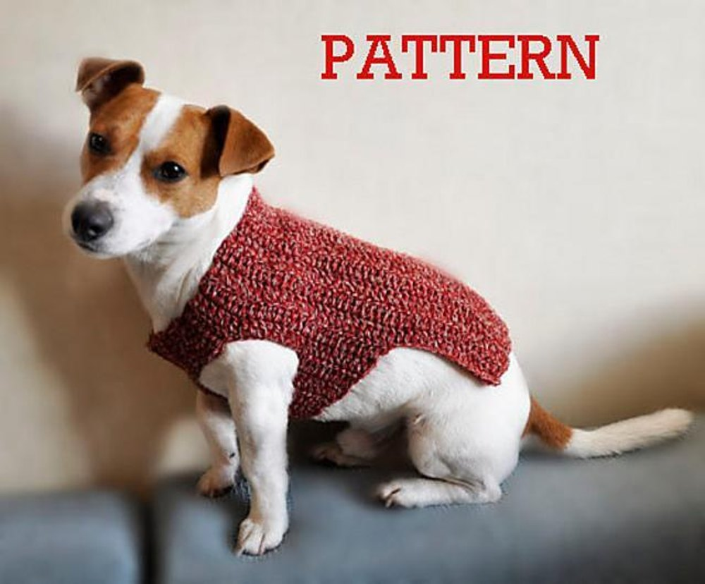Battersea Dogs Home Knitting Pattern Dog Coat : Rubby Dog Sweater Crochet pattern by TheMailoDesign