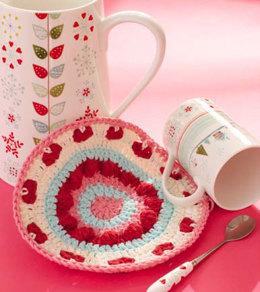 Be My Valentine Dishcloth in Lily Sugar 'n Cream Solids