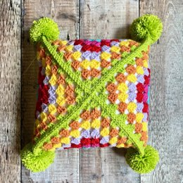 Sideways Granny Square Pillow
