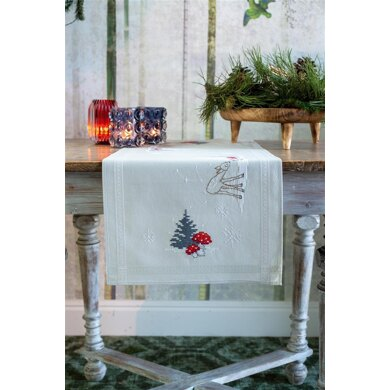 Vervaco Christmas Landscape Table Runner Cross Stitch Kit