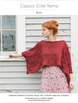 Sylvia Poncho in Classic Elite Yarns Provence - Downloadable PDF