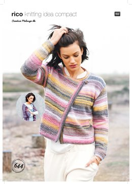 Jacket and Shawl in Rico Creative Melange DK - 644 - Leaflet