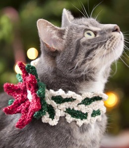 Holiday Cat Collar in Red Heart Holiday - LW2642 - Downloadable PDF