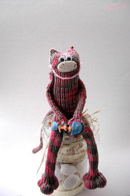 Thin cat  (knitted round)