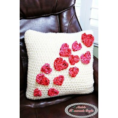 Pillow Case with Flying Hearts