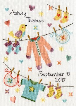 Bothy Threads Baby Grow Cross Stitch Kit - 20cm x 28cm