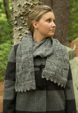 Bobble Edge Scarf in Classic Elite Yarns Tiverton Tweed - Downloadable PDF