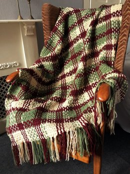 Crochet & Weave Offset Double Plaid Throw