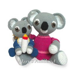 Amigurumi Mom and Baby Koalas The Amis
