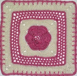 "Roses and Lace - 8"" square"