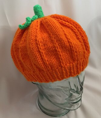 ea1bac48e40 Adult Pumpkin Hat - Knit ePattern Knitting pattern by Frugal Knitting ...