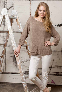 Pullover in Lang Yarns Lino - Downloadable PDF