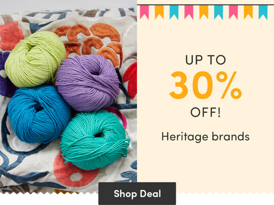 Up to 30 percent off Heritage brands!
